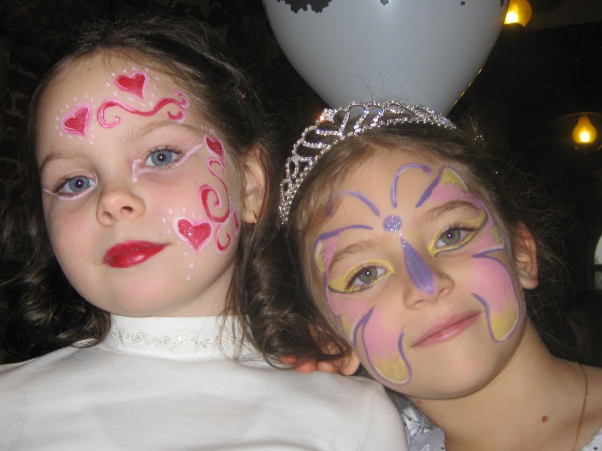 Фото дети роспись лица