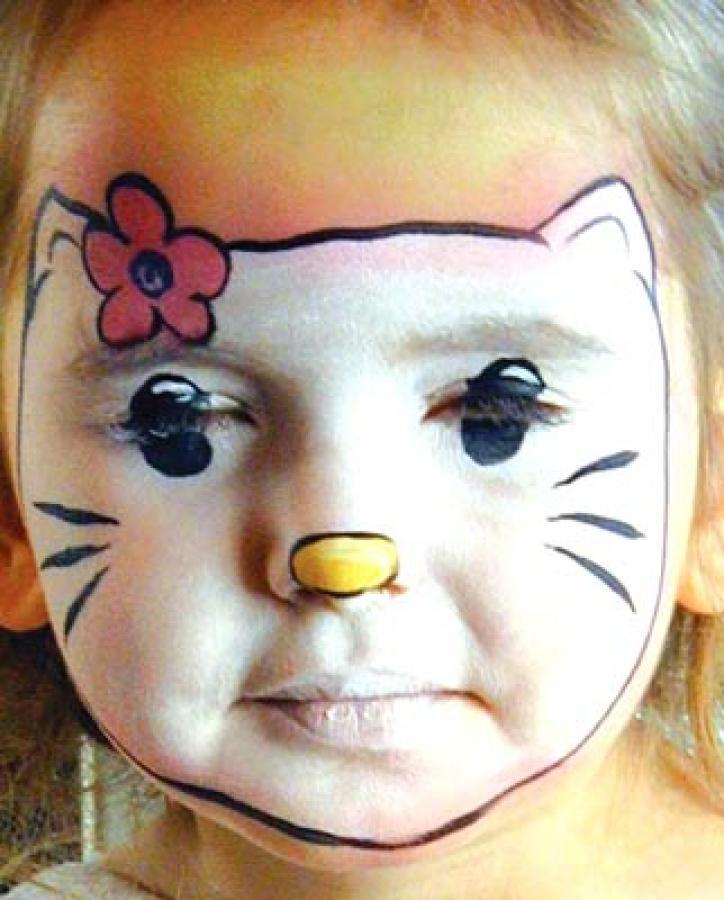 Как рисовать на лице красками