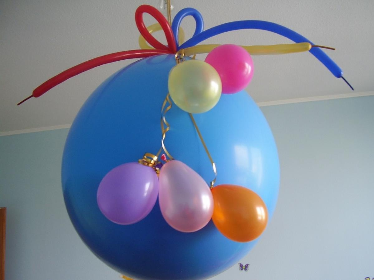 Как сделать шар сюрприз из воздушных шаров. - Своими руками 42